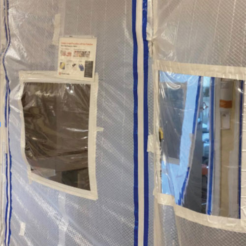 Clear Vinyl Plastic Protective Curtain Barriers